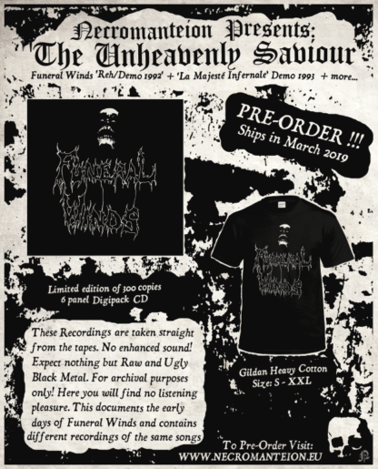 Funeral Winds The Unheavenly Saviour Flyer